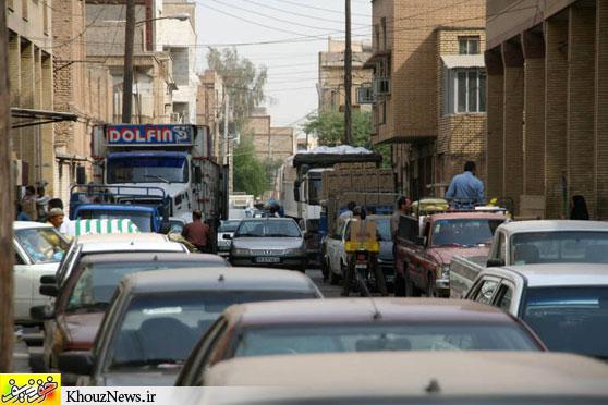 ترافیک ایجاد شده از سوی بنکداران در هسته مرکزی شهر اهواز