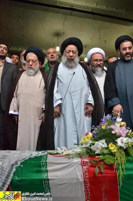 تشییع و تدفین پیکر شهید سیدمهدی موسوی در اهواز
