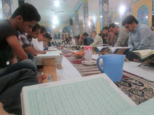 مراسم جزء خوانی قرآن کریم در ملاثانی