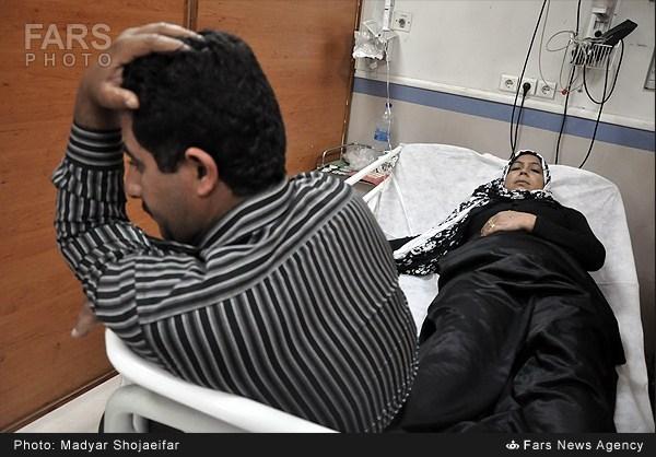 بستری شدن مردم اهواز در بیمارستان به دلیل بارش باران اسیدی