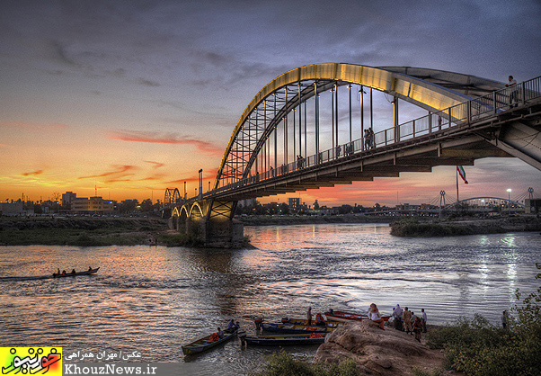 عکس پل سفید اهواز