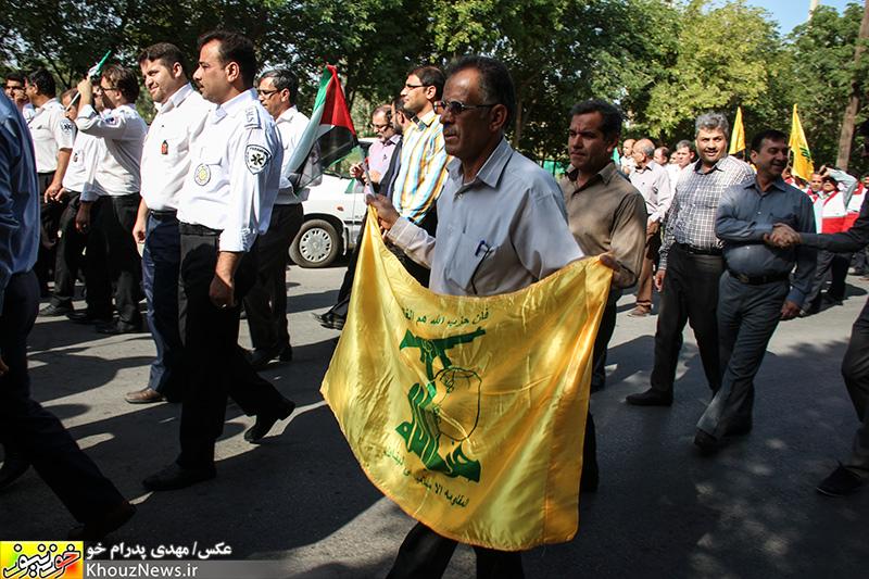 تجمع جامعه پزشکی خوزستان در حمایت از مردم غزه
