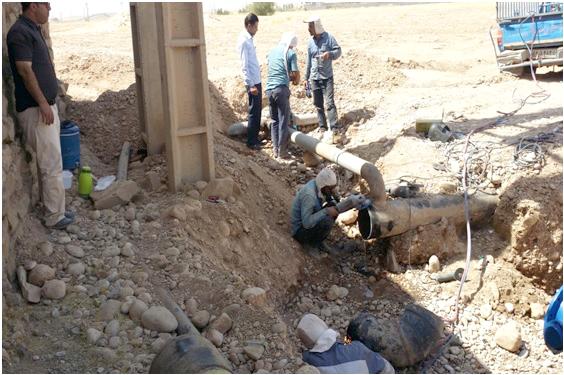 خط انتقال آب شرب 900 خانوار روستایی اندیمشک تعمیر شد