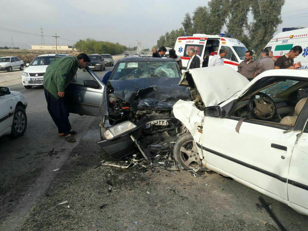 حادثه تصادف در گتوند هفت مصدوم بر جای گذاشت