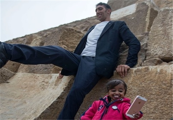 ملاقات بلندترین مرد جهان با کوتاهترین زن جهان