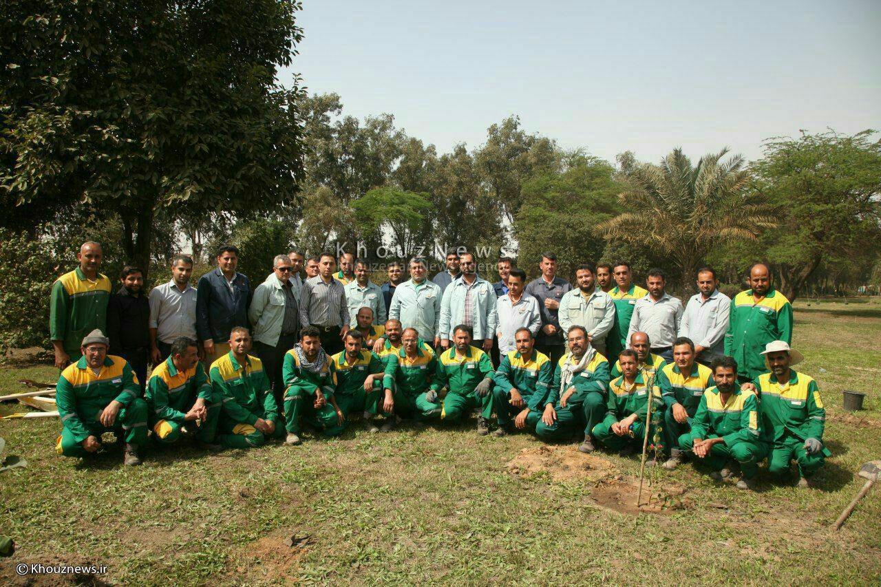 کاشت یک هزار اصله نهال در شرکت فولاد خوزستان