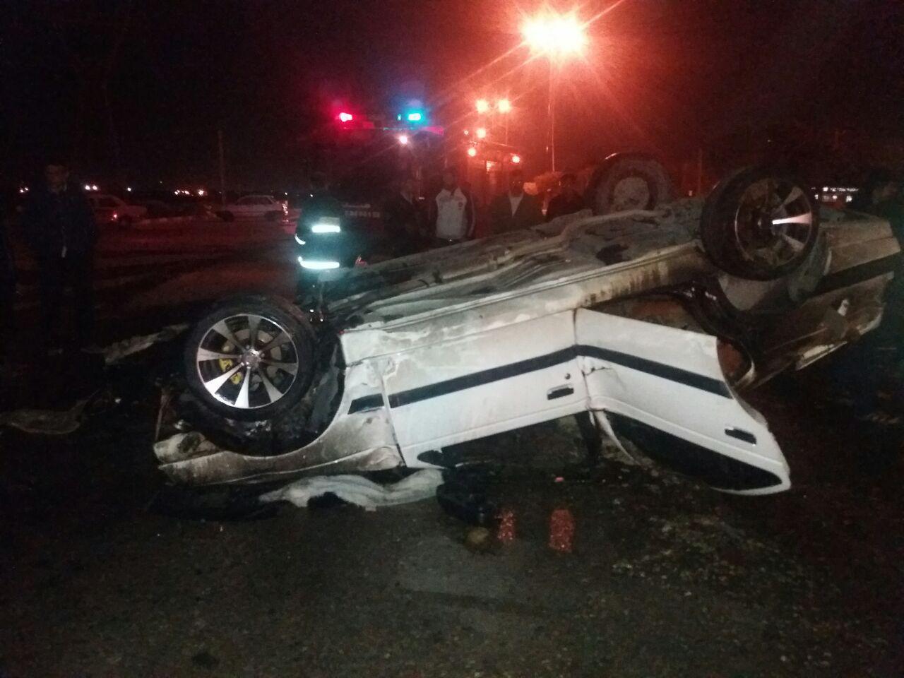حادثه رانندگی با 2 کشته و 6 مصدوم در جاده دزفول-شوشتر
