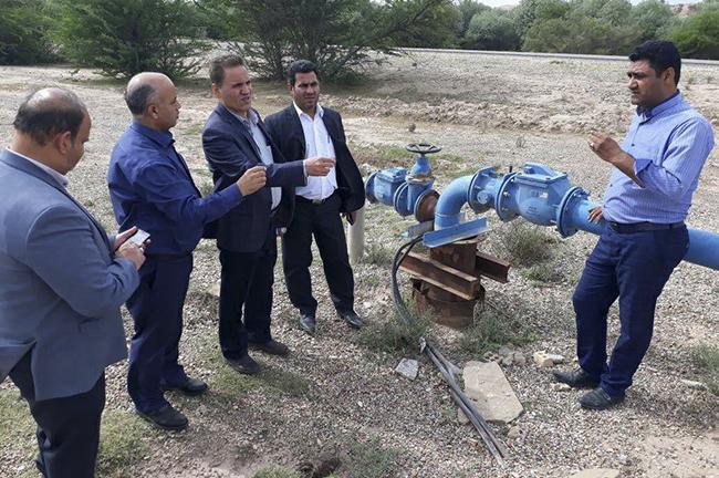 بازدید نماینده وزارت نیرو از وضعیت آبرسانی به روستاهای دهستان آهودشت