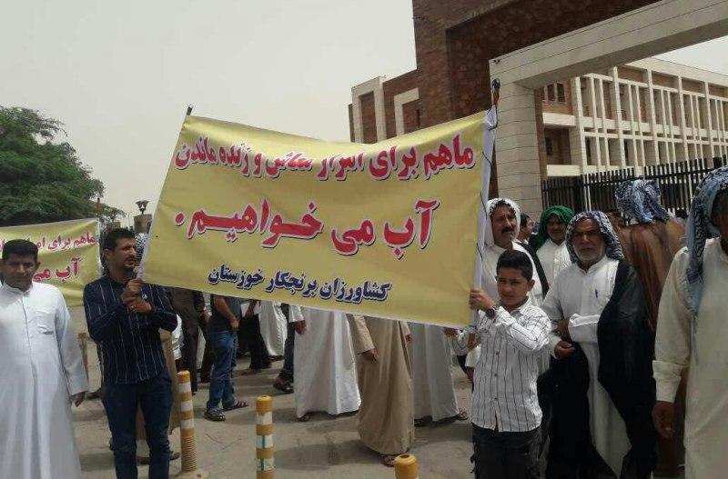 کشاورزان اهوازی خواستار رفع ممنوعیت کشت شدند