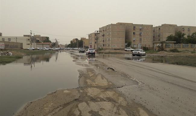 وضعیت فاضلاب منطقه پردیس اهواز بهروایت تصاویر