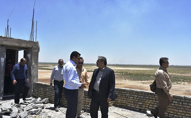 پیشرفت فیزیکی ۷۰ درصدی ساختمان پایش و محیط بانی تالاب بامدژ در خوزستان