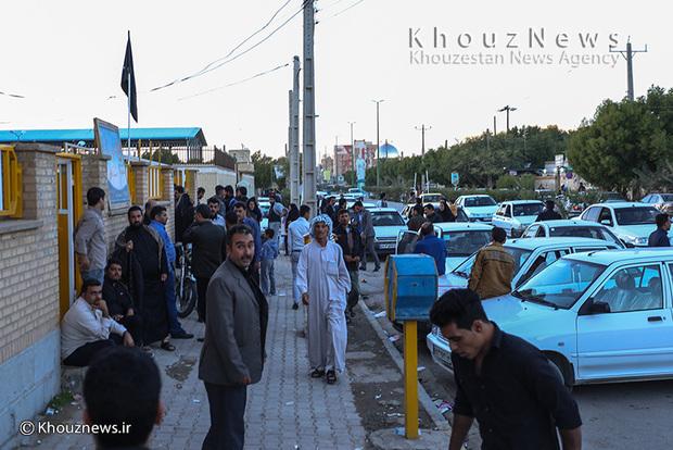 تصاویر/ وضعیت دفتر ثبت نام دریافت ویزای عراق در سوسنگرد