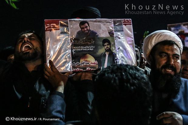 تصاویر/ ورود پیکر پاک سه شهید خوزستانی مدافع حرم به اهواز