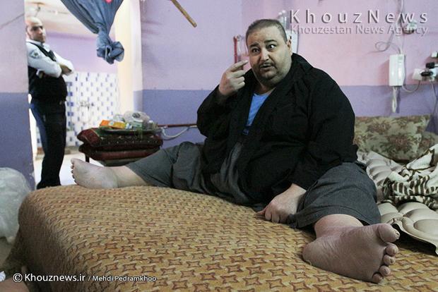 تصاویر / بیمار ۳۲۰ کیلویی اهوازی