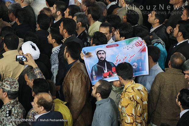 تصاویر / تشییع پیکر مطهر پنج شهید خوزستانی مدافع حرم در اهواز