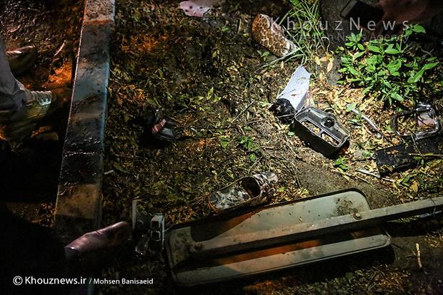 تصاویر / تصادف شدید در بلوار ساحلی اهواز
