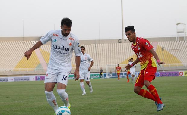 تصاویر / دیدار تیم های فولاد خوزستان و سایپا