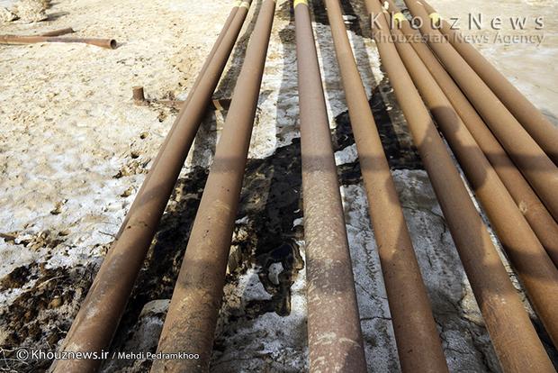 تصاویر / نشت نفت در منطقه کریت کمپ، بخش غیزانیه اهواز