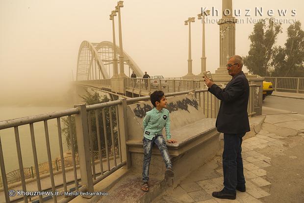 تصاویر / غلظت گرد و غبار در اهواز 57 برابر حد مجاز