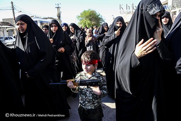تصاویر / تشییع و خاکسپاری شهید مدافع حرم فاضل موسوی امین در اهواز