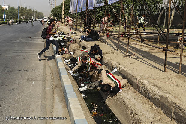تصاویر / حمله تروریستی به رژه نیروهای مسلح در اهواز / 1