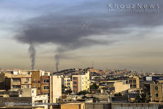 resized 109128 643 - گزارش تصویری / اهواز در محاصره دودهای نفتی