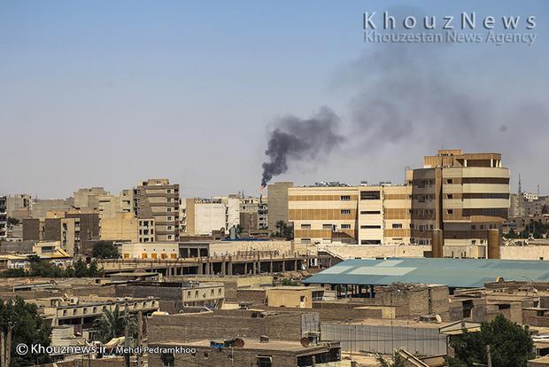 resized 109144 849 - گزارش تصویری / اهواز در محاصره دودهای نفتی