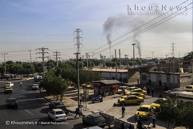 resized 109156 311 - گزارش تصویری / اهواز در محاصره دودهای نفتی
