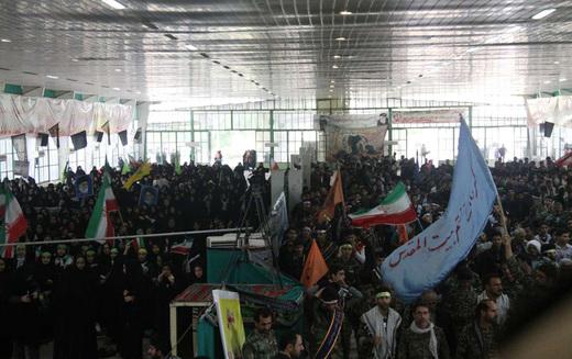 تصاویر / تجمع بزرگ بسیجیان در درفول