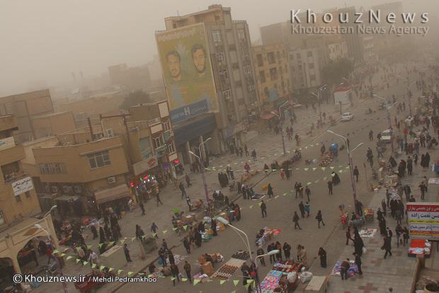 تصاویر / هجوم ریزگردها به اهواز