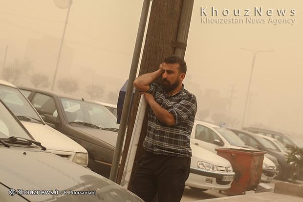 تصاویر/ ریزگردها و روزهای ماسکی اهواز / 2