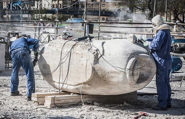 تصاویر / اولین سمپوزیوم ملی مجسمهسازی آبادان