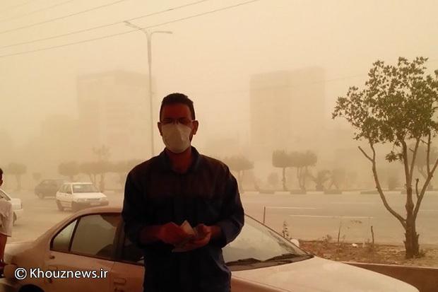 کاربران/ عکس/ گرد و غبار شدید در خوزستان / 2
